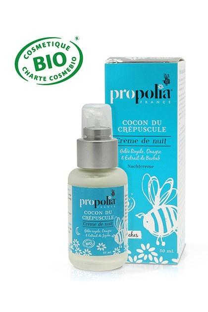 Propolia - Crème de Nuit Bio - Peaux Sèches - OhSens.fr